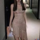 吊帶連身裙 Pulala 性感吊帶連身裙女2021春夏季修身顯瘦氣質內搭魚尾打底裙寶貝計畫 上新