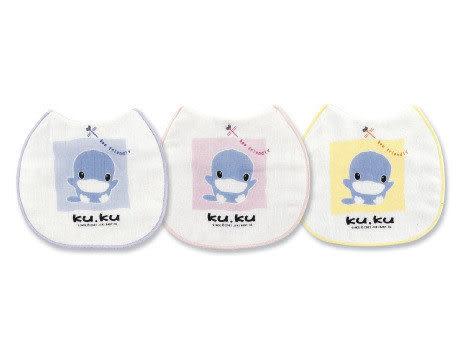 【奇買親子購物網】酷咕鴨KU.KU. 授乳圍兜(藍色/粉色/黃色)