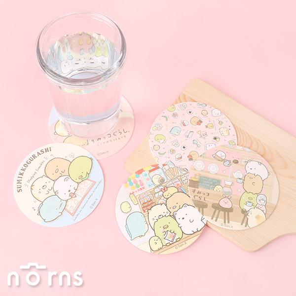 角落生物2入圓形印花紙杯墊- Norns 角落小夥伴正版 餐具 生活雜貨