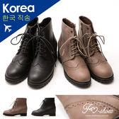 靴.學院牛津風內增高短筒靴-韓國精選-FM時尚美鞋.cheek