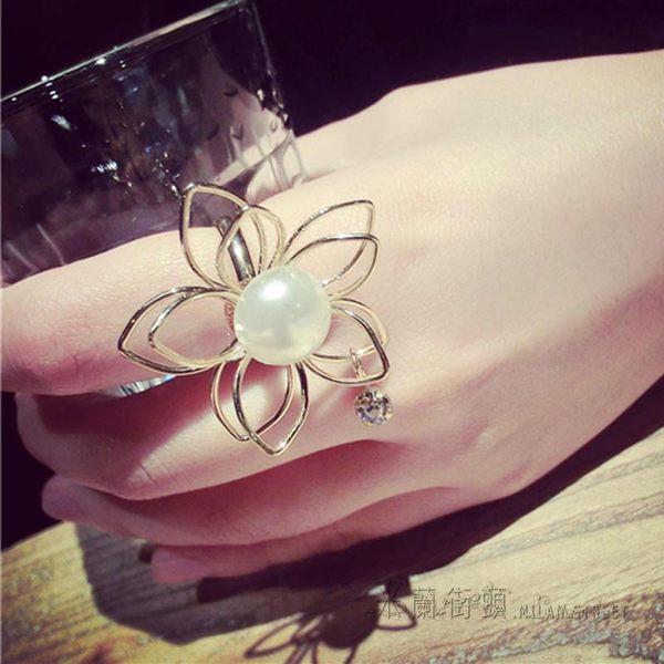 花朵戒指可調節大小