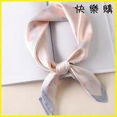 圍巾 圍巾小方巾女百搭職業裝飾系頭巾