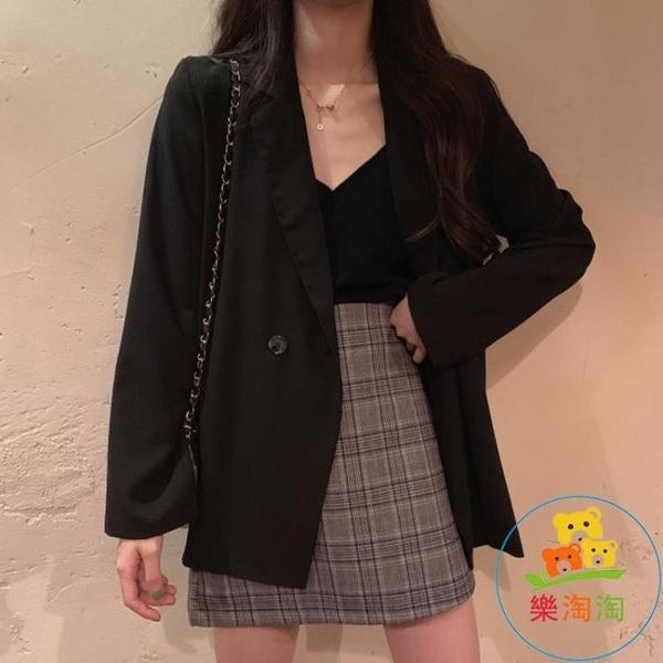 西裝外套女小西服上衣韓版寬松春秋薄款氣質 樂淘淘