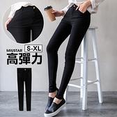 現貨-MIUSTAR 韓國激瘦純黑-5KG彈力水洗斜紋長褲(共1色,S-L)【NH0386】預購