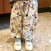 綿綢兒童防蚊褲夏季薄款女童長褲子面包超人男童燈籠褲米奇親子裝 幸福第一站