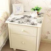 防水免洗床頭櫃蓋布pvc電視櫃桌布台布水晶墊歐式田園鞋櫃軟玻璃 降價兩天