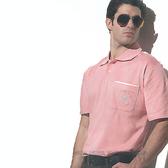 【義大利 SINA COVA】男女運動休閒吸濕排汗短POLO衫-淺粉#S800A
