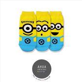 韓國品牌全版小小兵卡通圖案短襪子❤️純棉襪長襪絲襪隱形襪 復古