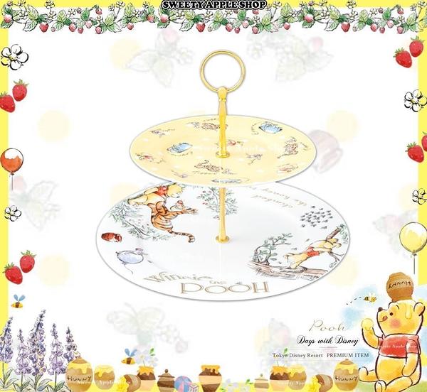 (現貨&樂園實拍) 東京迪士尼 x Afternoon tea 聯名限定 小熊維尼家族 下午茶 雙層蛋糕架