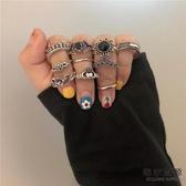 10只裝 歐美風復古嘻哈指環韓國寶石關節戒指【毒家貨源】