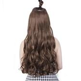 假髮女長捲髮大波浪長髮直髮隱形無痕網紅可愛u型假髮片一片式