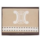 CELINE經典皇家BLASON LOGO純棉毛蓋毯禮盒(駝色)084106