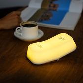 MUID重力感應開關燈智能節能led充電臥室床頭觸摸創意喂奶小夜燈