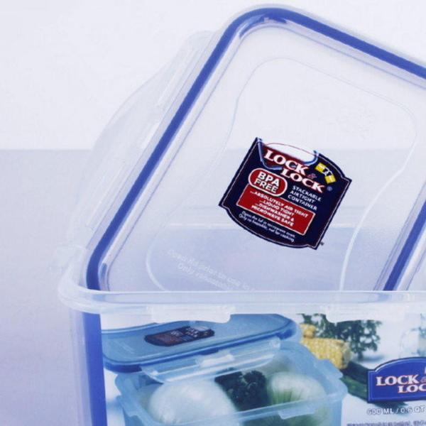 【GD226】LOCK & LOCK 樂扣樂扣保鮮盒HPL811『方形600ML』20OZ 密封盒 微波盒 EZGO商城