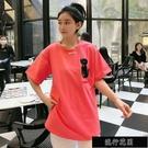 非常顯白桃粉色 刺繡提花貓咪T恤女短袖 內搭外穿都很贊體恤【全館免運】