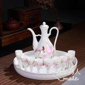 家用高腳杯陶瓷酒壺xx3757【極致男人】