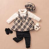 【金安德森】秋冬彌月禮盒-三件式女生款背心裙套裝(共二色)