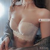 無肩帶內衣女聚攏小胸防滑胸罩bra上托防下垂內衣內褲文胸套裝【貼身日記】