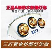 壁掛式美的浴霸照明 燈泡取暖兩燈掛壁衛生間浴室取暖傳統掛式  igo 開箱寶  220v