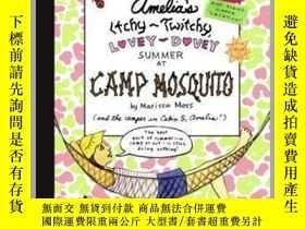二手書博民逛書店Amelia s罕見Itchy-Twitchy, Lovey-Dovey Summer at Camp Mosqu