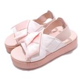 Puma 拖鞋 Platform Slide Wns K 粉紅 厚底 緞帶 女鞋 Fenty 涼拖鞋 涼鞋【PUMP306】 36774601