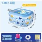 嬰兒游泳池家用折疊加厚超大號兒童充氣游泳桶寶寶泡澡桶泳池 星河光年DF