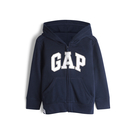Gap男幼Logo徽標棉質毛圈布內裡連帽衫567921-藏青色