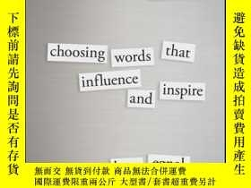 二手書博民逛書店Leading罕見Through Language: Choosing Words That Influence