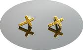 gold 黃金 耳環 金飾 保證卡 重量0.15錢 [ ge 076 ]