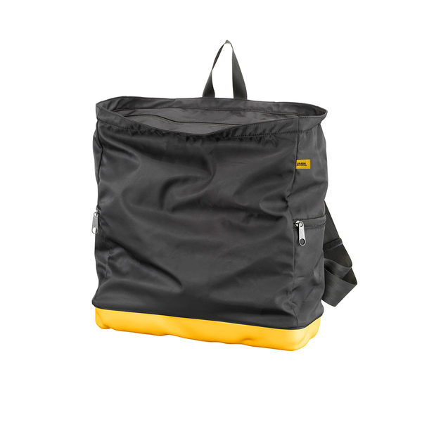 Crash Baggage Bump Bags, 15 吋 前衛霧面 龐克系列 防潑水 後背包 / 筆電包(黑色袋身 - 加州黃硬殼)