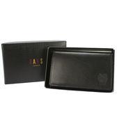DAKS logo壓紋小牛皮名片夾禮盒(黑色)230183-01
