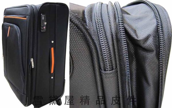 ~雪黛屋~18NINO81 24吋商務型行李箱美國專櫃360度靈活旋轉台灣製造精品品質保證可加大容量#8585