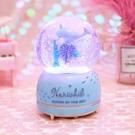水晶球音樂盒音樂盒帶雪花可發光天空之城生【七月特惠】
