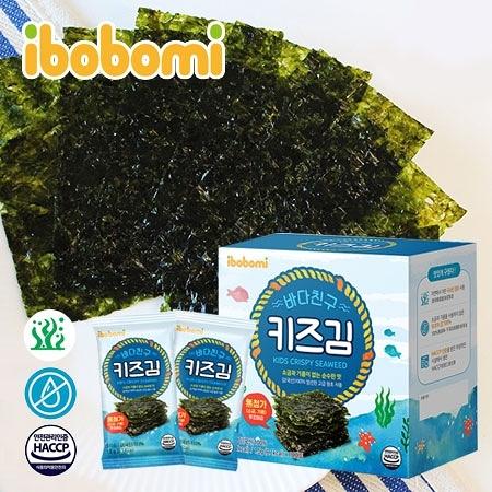 韓國 ibobomi 無調味海苔片 (10入) 15g 無鹽海苔 海苔 海苔片 零食 零嘴 包飯 飯糰