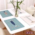 餐桌墊雙層加厚可愛日式棉麻布藝西餐墊文藝學生 BF4493【花貓女王】