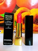 Chanel 香奈兒 超炫耀絲絨唇膏#43 最愛限定43新色鮮艷的珊瑚色 大膽搶眼