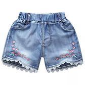 女童短褲兒童牛仔短褲男童短褲中大童短褲韓版破洞熱褲