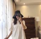 日本uv漁夫帽女夏遮陽帽韓版百搭日系太陽帽大帽檐防曬帽子女遮臉一米陽光