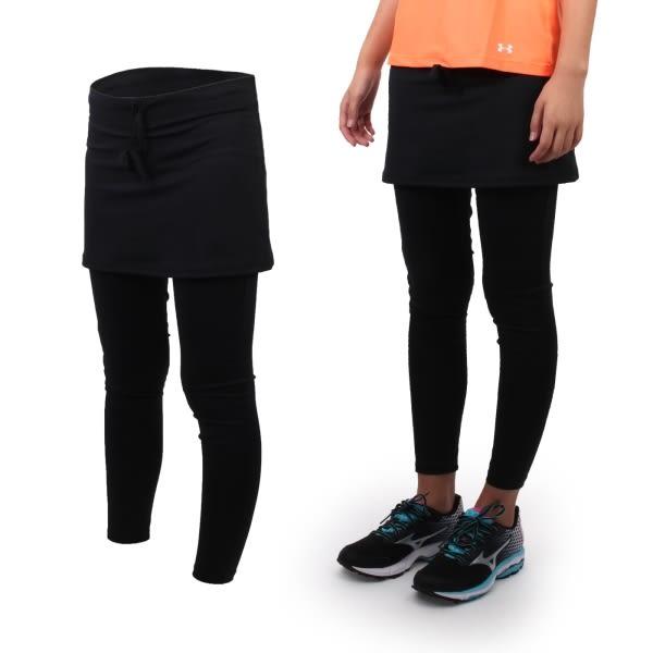 SOFO 女兩件式九分韻律長褲裙-運動 路跑 慢跑 瑜珈 健身 休閒