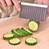 廚房用品 多功能波浪切菜刀 19x6cm  料理刀 蔬果刀 廚房刀 不鏽鋼刀 切碎刀  【KFS082】123ok