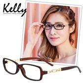 【福利品】時尚風格水鑽平光眼鏡/光學眼鏡/近視眼鏡(褐色-M6382-C3)