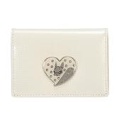Crystal Ball俏皮愛心飾鑽名片夾(白色)165002-4