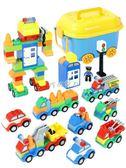 兒童積木 兒童大顆粒汽車積木拼裝玩具益智寶寶男孩智力 珍妮寶貝