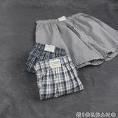 【GIORDANO】男裝純棉寬鬆平底四角褲(三件裝) -66 藍棕格子色