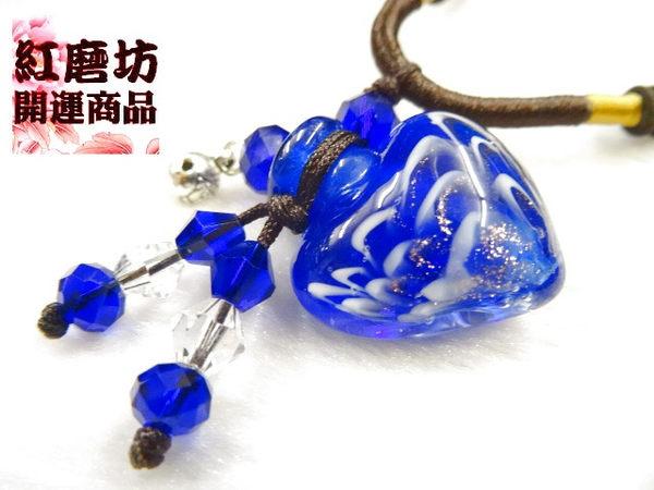 【Ruby工作坊】NO.27B深藍精油瓶中國結項鍊