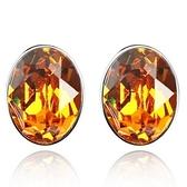 水晶耳環 925純銀(耳針式)-簡約橢圓形生日情人節禮物女飾品4色73bd65【時尚巴黎】