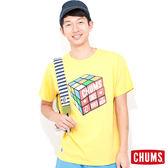 CHUMS 日本 男 涼感輕量綿 短袖T恤 Cube魔術方塊 含羞草黃 CH011039Y009