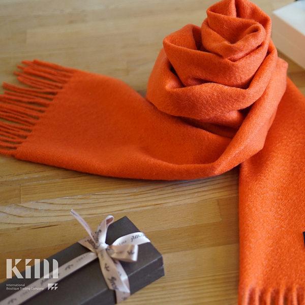 可傑 KIM Taiwan 活力無限.橘『GOBI 100% 喀什米爾圍巾』 原價3500 限時85折 $2975