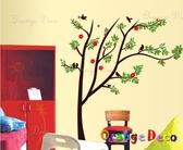 壁貼【橘果設計】花樹 DIY組合壁貼/牆貼/壁紙/客廳臥室浴室幼稚園室內設計裝潢