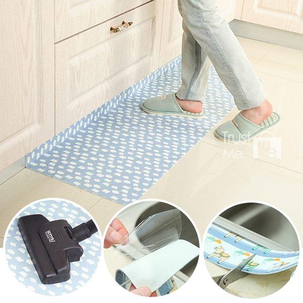 【買1送1】自黏式吸濕防滑地墊止滑門墊 45*60cm 廚房衛浴吸水墊